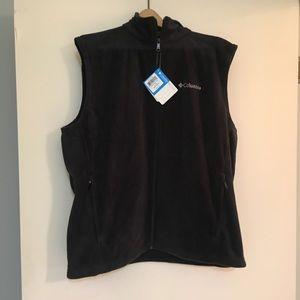 NWT Men's Columbia Fleece Vest, Black, Size L